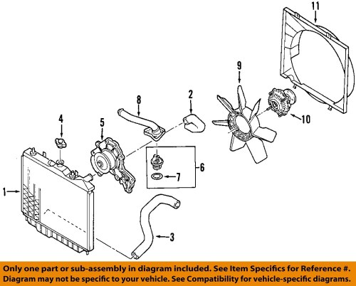 small resolution of isuzu oem 98 03 rodeo radiator cooling fan blade 8971722010 9 on diagram only genuine oe factory original item