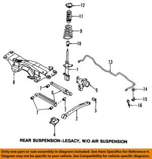 SUBARU OEM 9802 Forester Rear SuspensionFrame Crossmember 20151FA113 | eBay