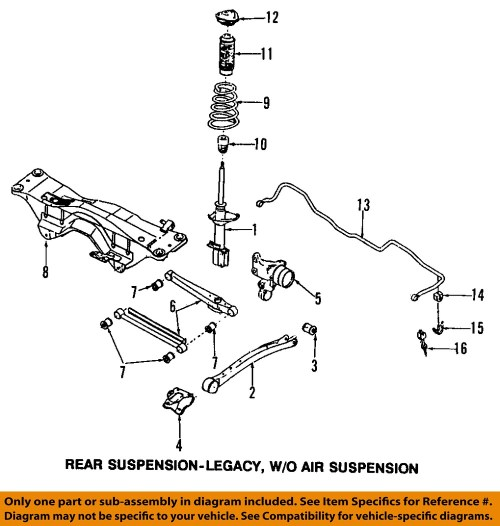 small resolution of subaru oem 98 02 forester rear suspension frame how sway bars work sway bar link diagram