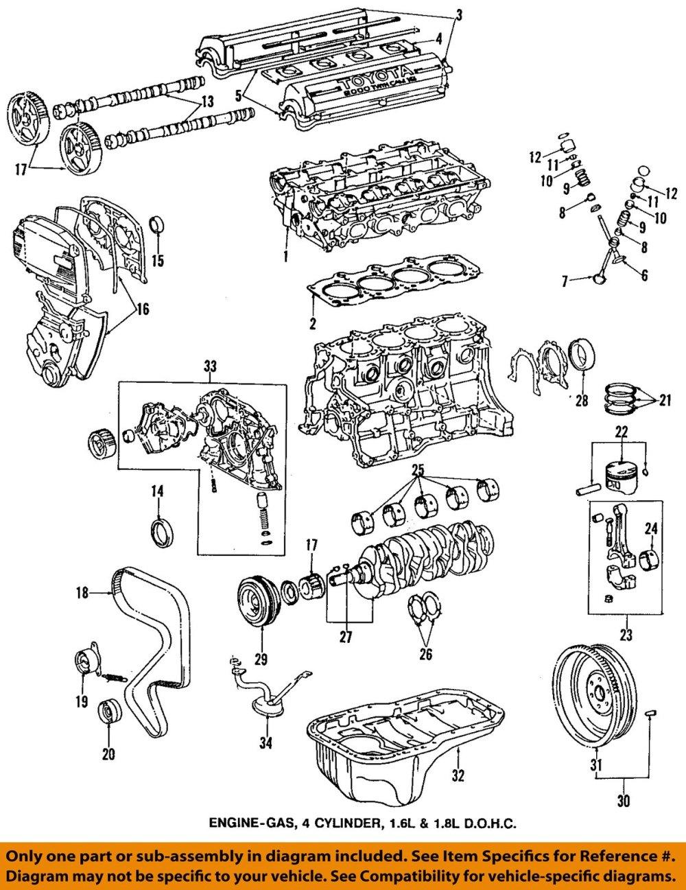 medium resolution of toyota oem 95 97 corolla engine timing gear sprocket toyota 22re engine diagram toyota 4runner engine