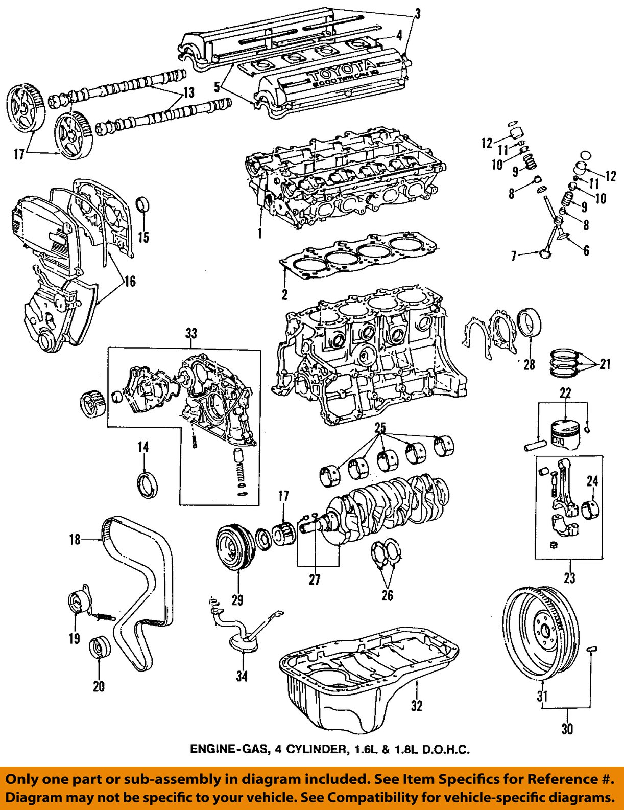 hight resolution of toyota oem 95 97 corolla engine timing gear sprocket toyota 22re engine diagram toyota 4runner engine