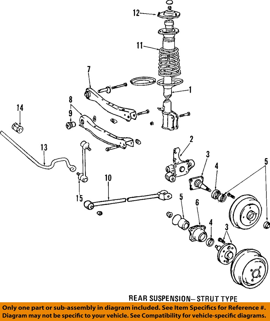 hight resolution of  1999 toyotum corolla rear suspension diagram toyota 98 00 corolla rear suspension strut mount