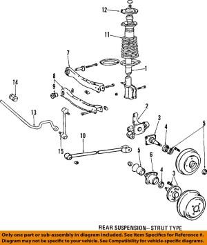 Toyota 98 00 Corolla Rear Suspension Strut Mount