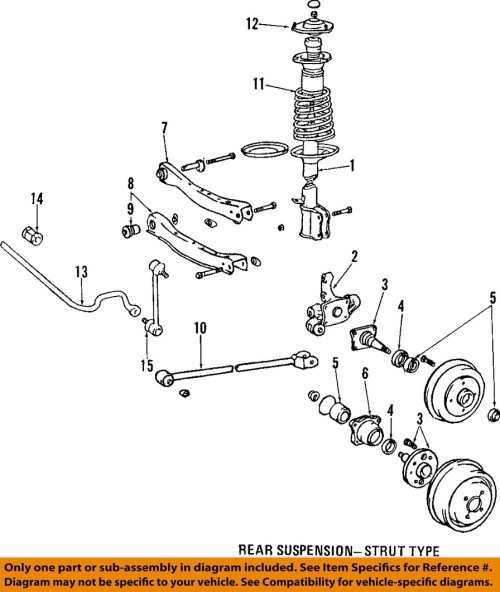 small resolution of  1999 toyotum corolla rear suspension diagram toyota 98 00 corolla rear suspension strut mount
