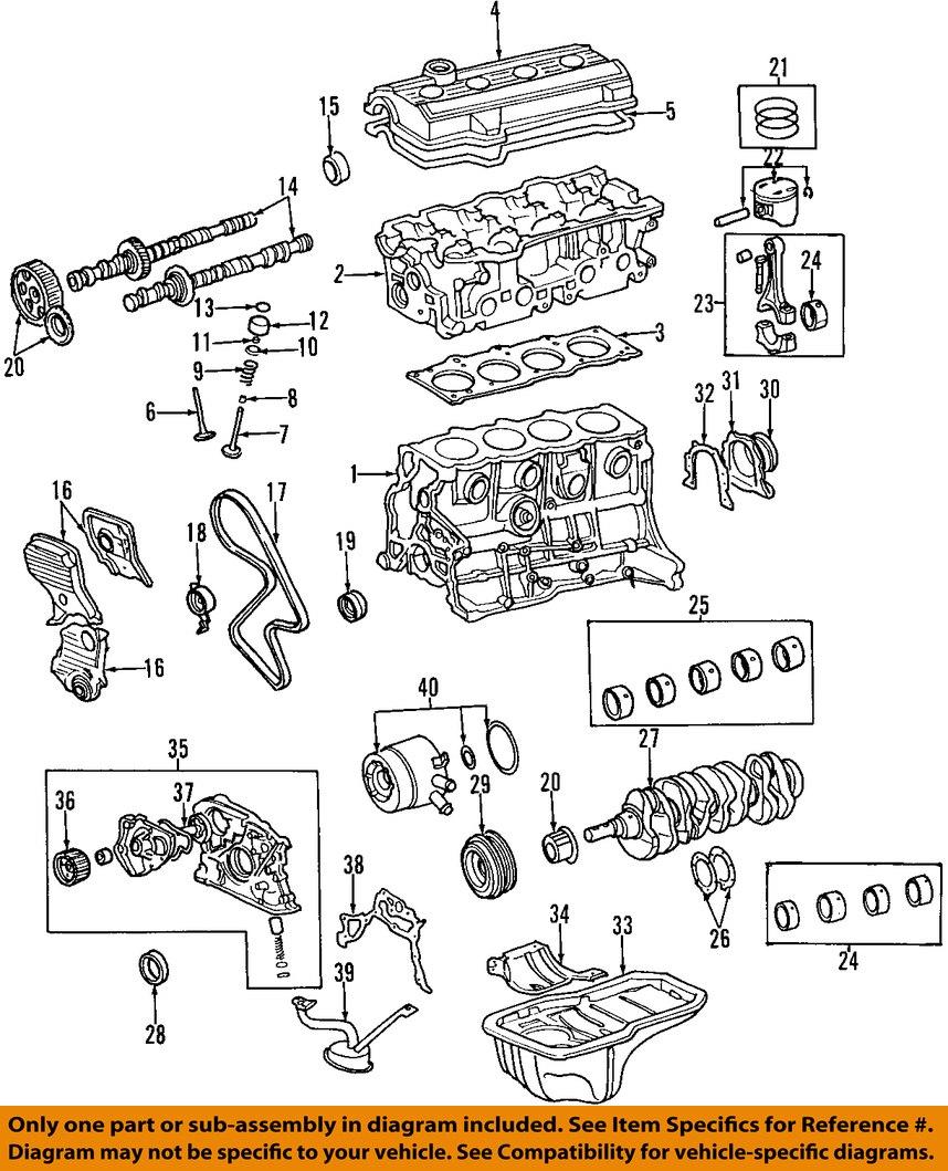 medium resolution of 2000 toyota rav4 2 0l engine oil pump genuine oem new 1996 toyota corolla engine motor 1996 toyota corolla engine motor
