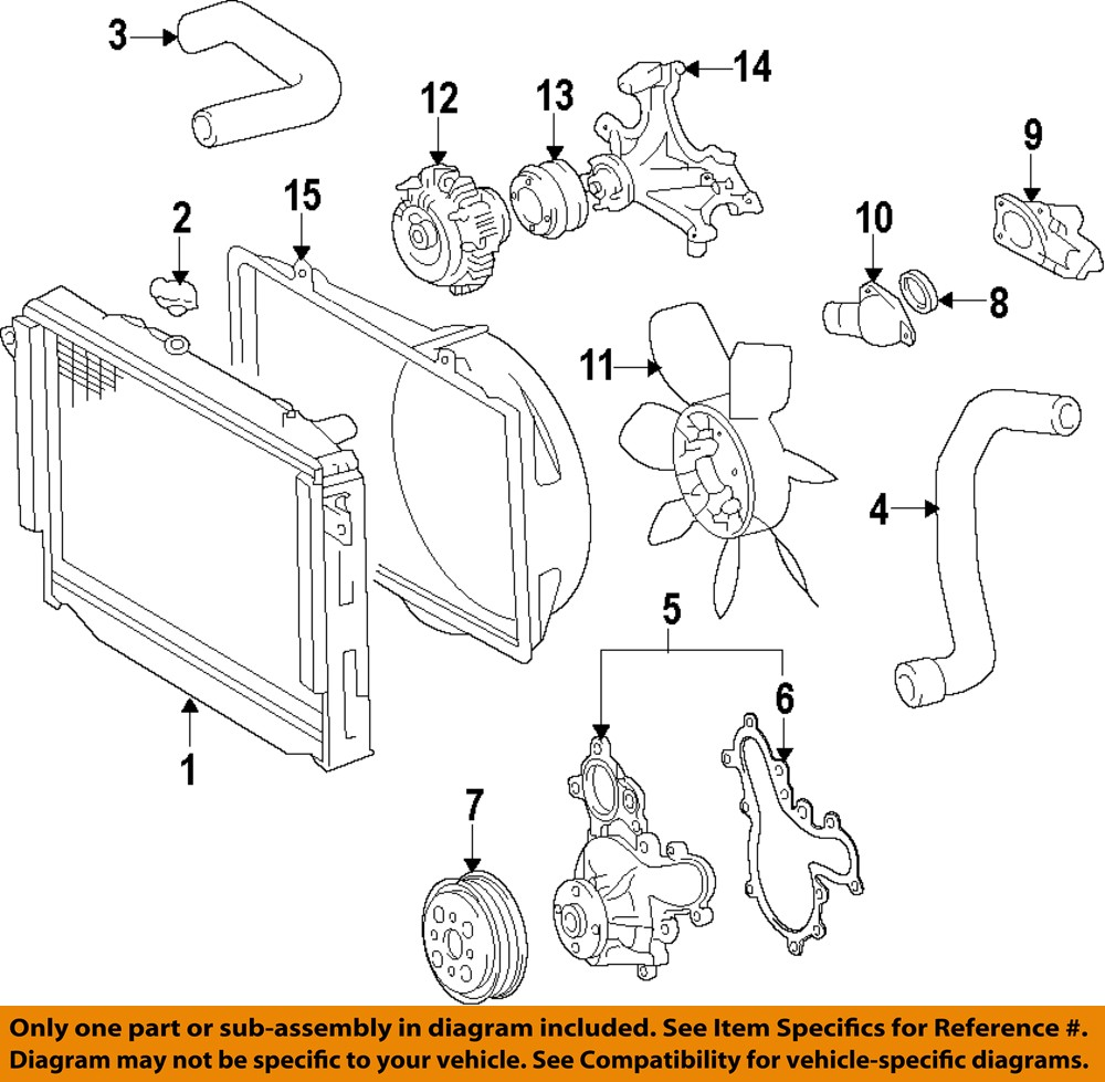 medium resolution of image is loading toyota oem engine water pump 1610009491
