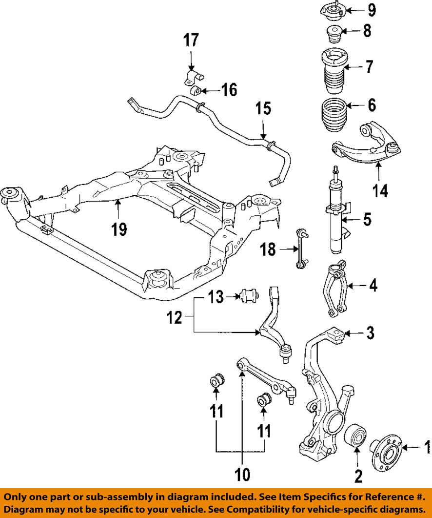medium resolution of details about ford motorcraft mcf10 oem lower control arm front driver side be5z 3079 a