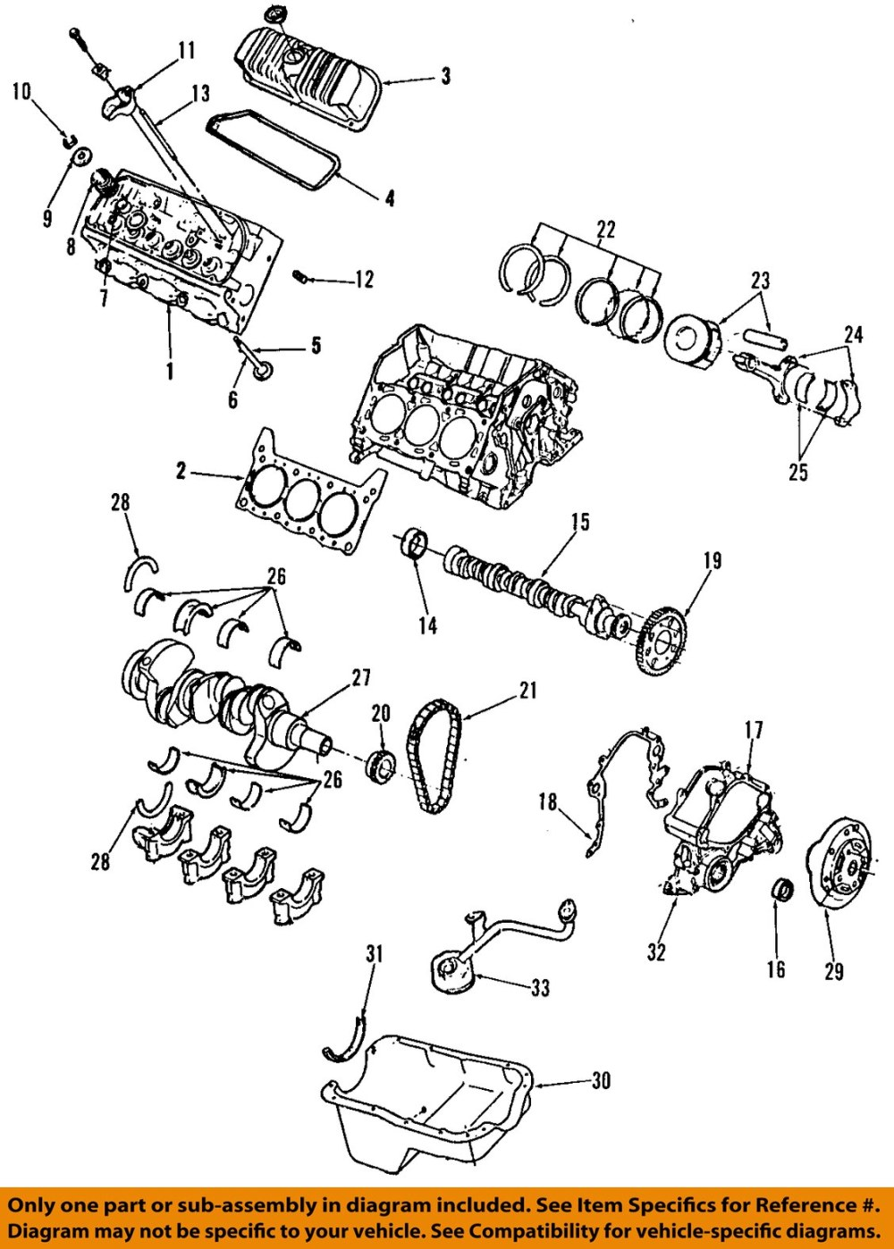 medium resolution of ford oem mustang engine harmonic balancer rzbba image is loading ford oem 01 04 mustang engine