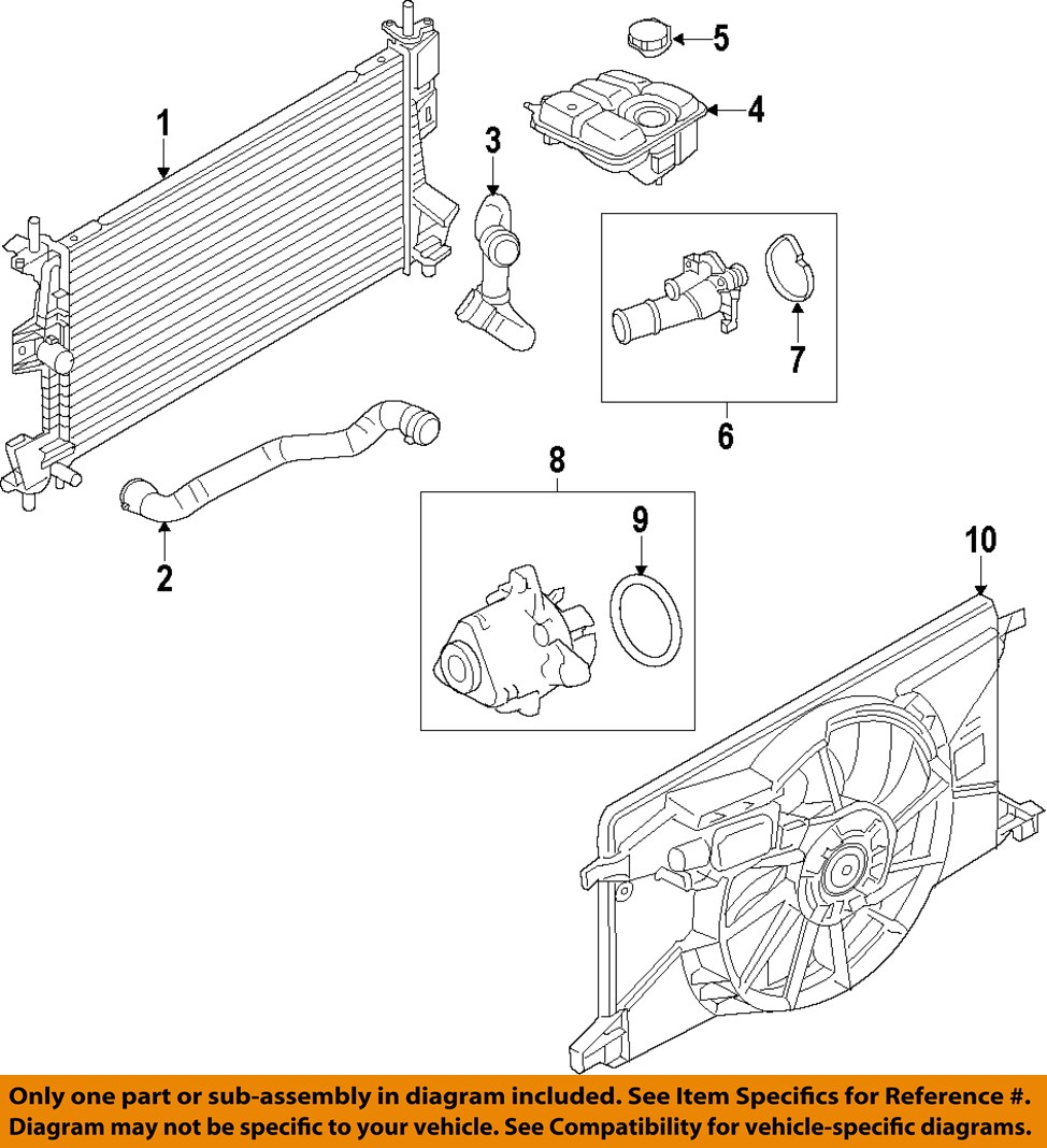 2000 ford focus thermostat diagram headphone mic wiring radiator on motorcraft rt1219 oem 2012 2016 housing cp9z