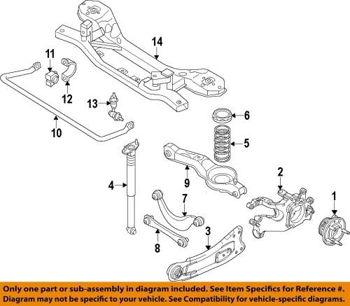 small resolution of ford oem 12 15 focus rear hub bearing assembly bv6z1104b