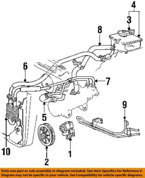 FORD OEM Power Steering PumpUpper Return Line Hose
