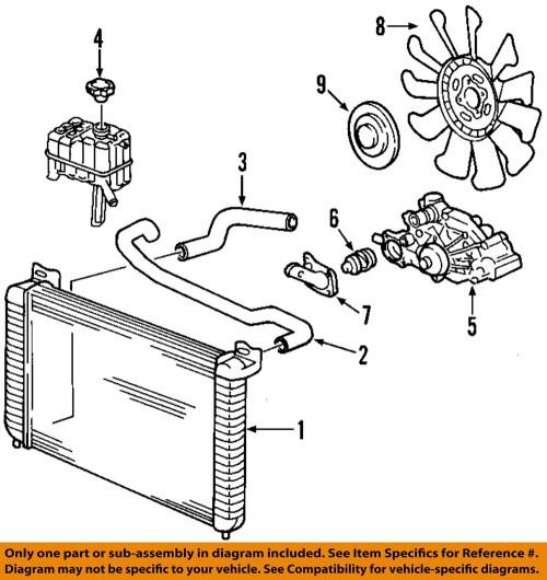 small resolution of gm oem engine coolant thermostat 12600171 ebay 1999 chevy silverado radiator diagram chevy silverado evap system