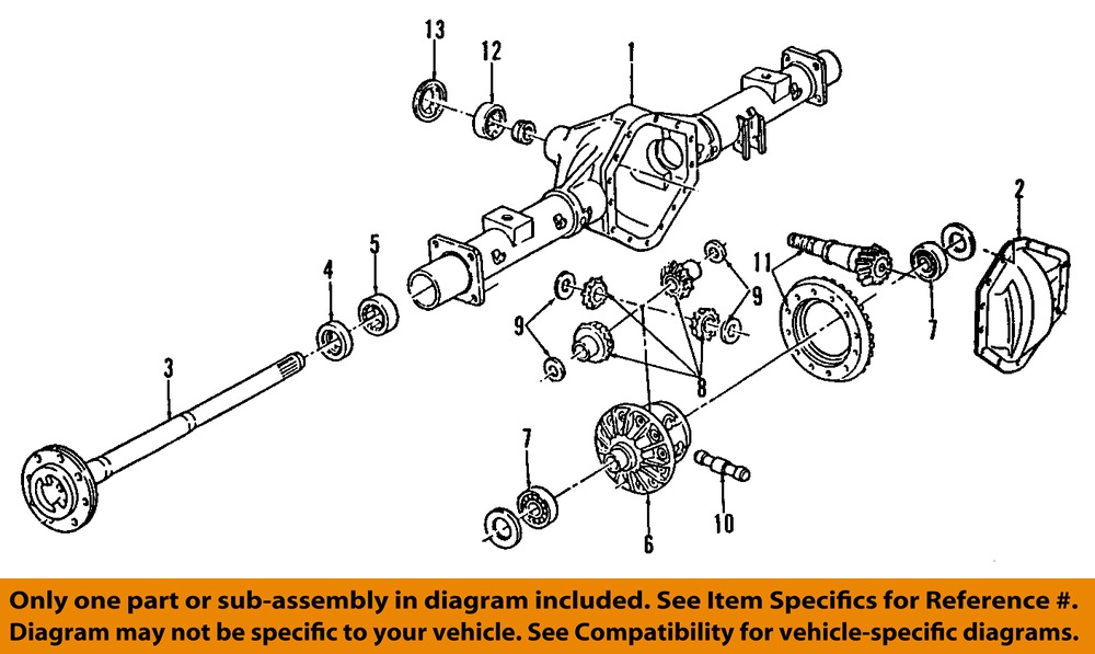 Rear Axle Assembly Diagram