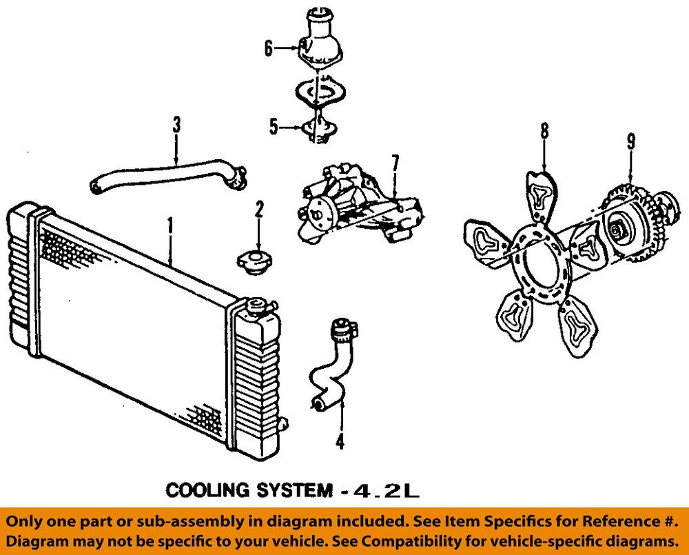 medium resolution of gm oem engine cooling fan clutch 25790869 ebay