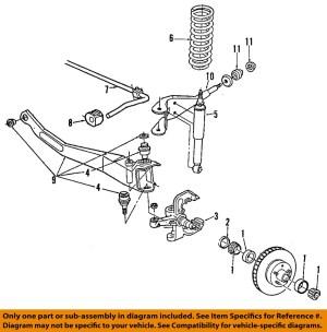 FORD OEM 9294 Explorer Front SuspensionRadius Arm
