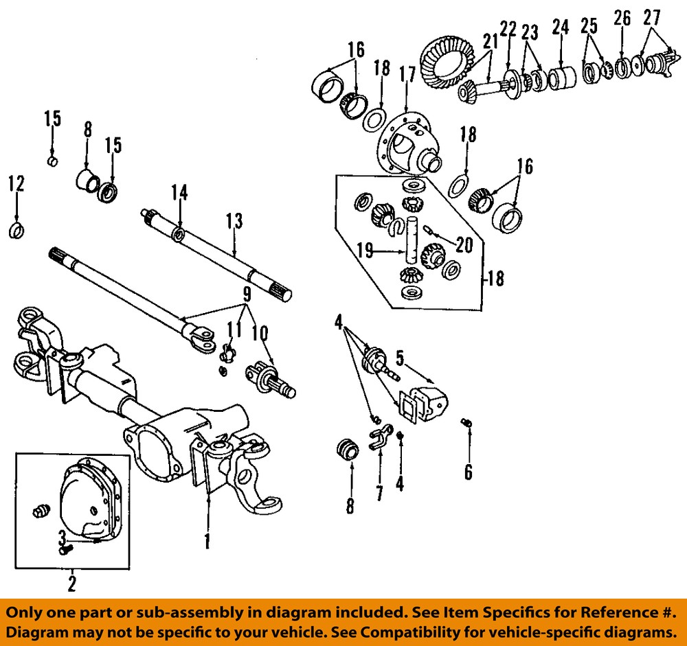 hight resolution of details about chrysler oem front axle universal joint u joint 4137757 2008 dodge ram 1500 front differential diagram