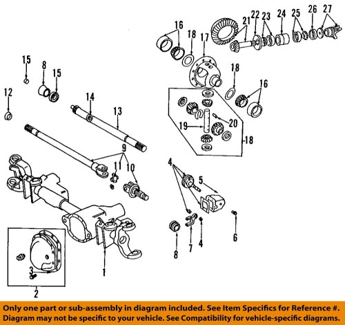 small resolution of details about chrysler oem front axle universal joint u joint 4137757 2008 dodge ram 1500 front differential diagram