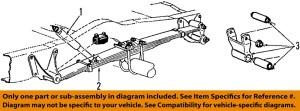 FORD OEM 0507 E350 Super Duty Rear SuspensionLeaf Spring 5C2Z5560VA | eBay