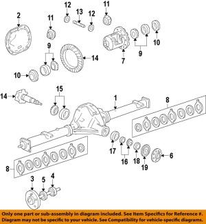 FORD OEM 0914 F150 Rear DifferentialGear Kit AL3Z4215A