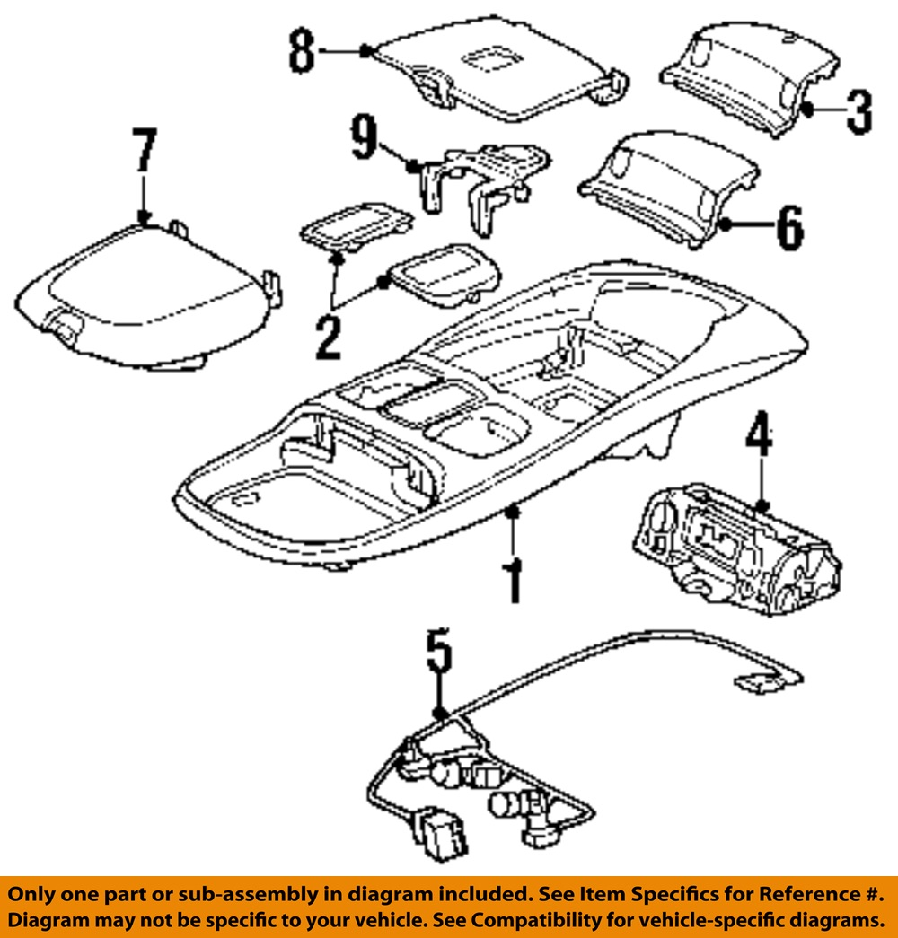 hight resolution of dodge chrysler oem 99 02 ram 3500 overhead roof console wire harness details about dodge chrysler
