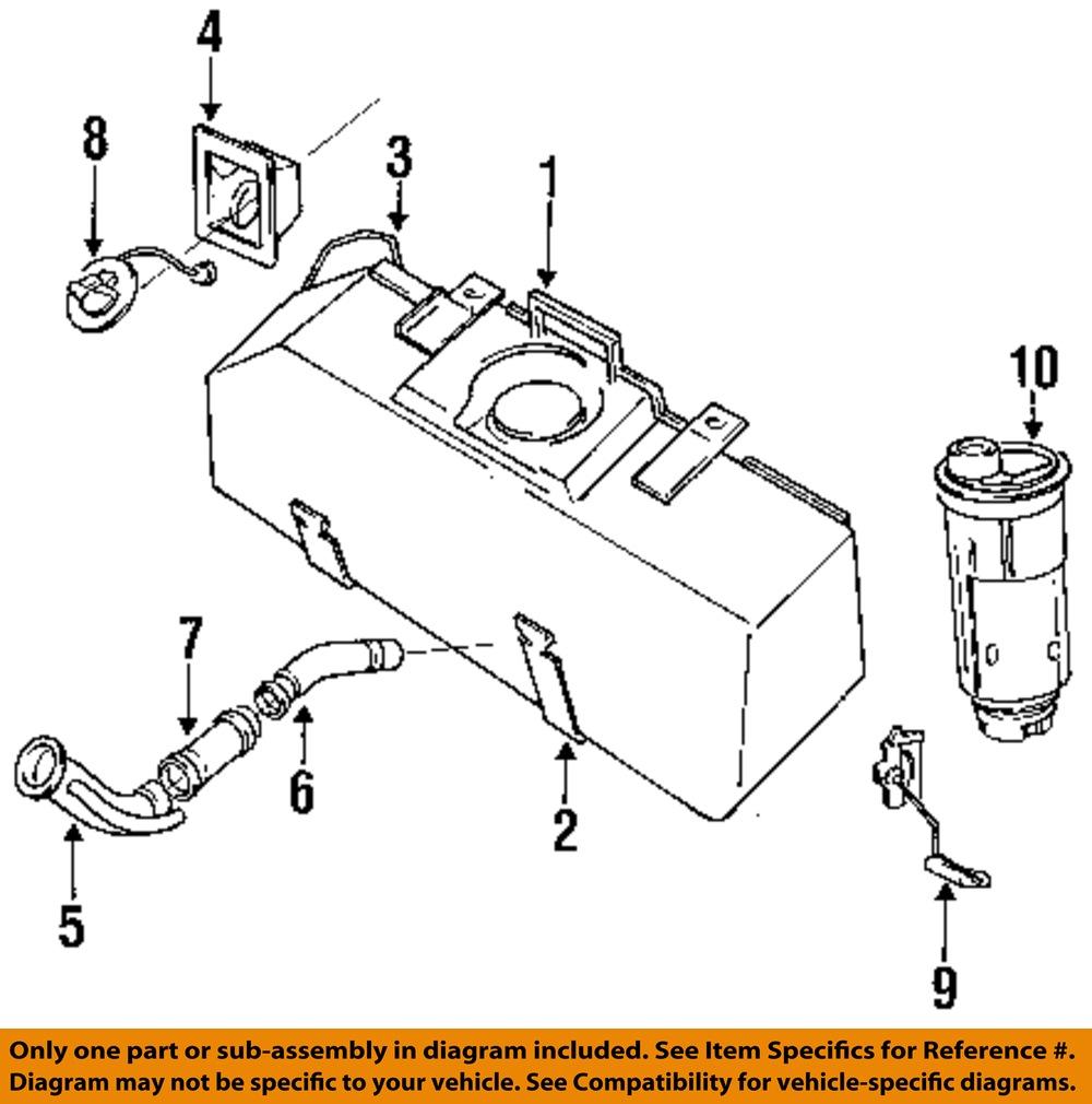 Oediag2 tf87135 dodge chrysler oem 87 96 dakota 3 9l v6 fuel tank fuel filler neck on