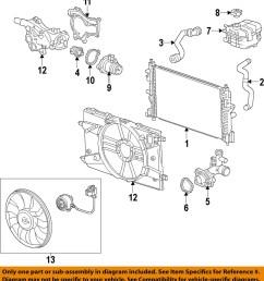 chevrolet gm oem 11 14 cruze radiator 13311079 ebay 2011 chevy cruze 1 4 turbo engine diagram 2011 chevy cruze 1 8 engine diagram [ 976 x 1068 Pixel ]