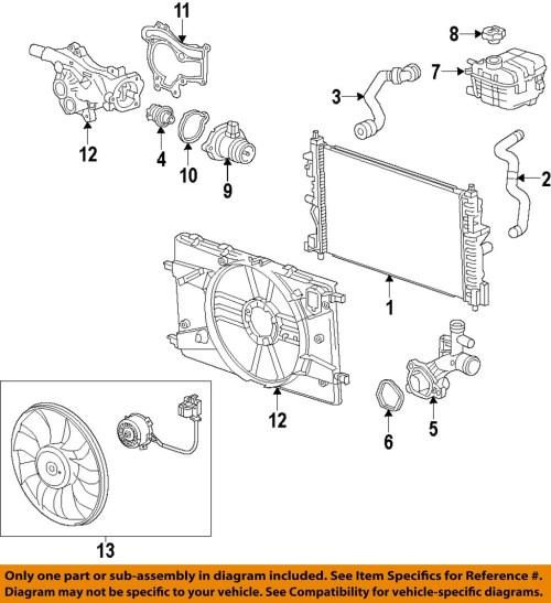 small resolution of chevrolet gm oem 11 14 cruze radiator 13311079 ebay 2011 chevy cruze 1 4 turbo engine diagram 2011 chevy cruze 1 8 engine diagram