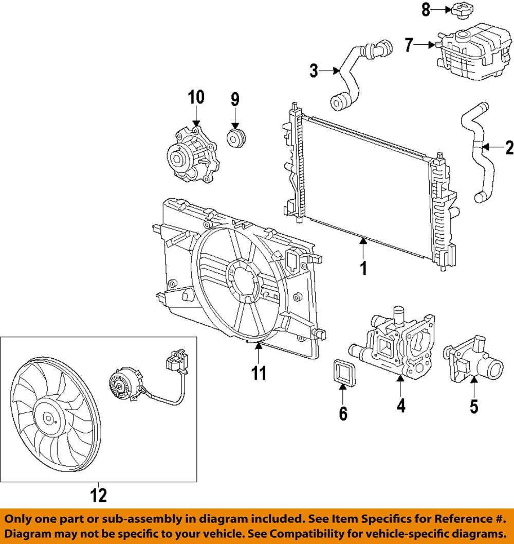 medium resolution of chevrolet gm oem 12 15 cruze radiator cooling fan blade 2012 chevy cruze engine diagram 2012