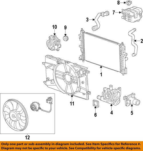 small resolution of chevrolet gm oem 12 15 cruze radiator cooling fan blade 2012 chevy cruze engine diagram 2012
