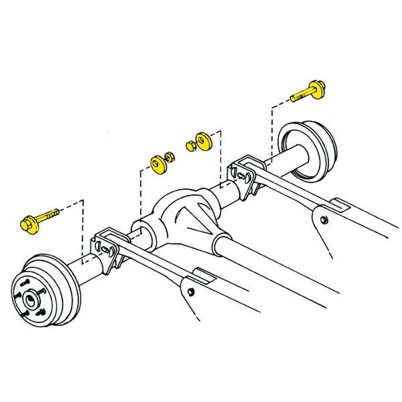 Alignment Caster Pinion Angle Bolt Kit Moog K Fits 97 06 Jeep Wrangler