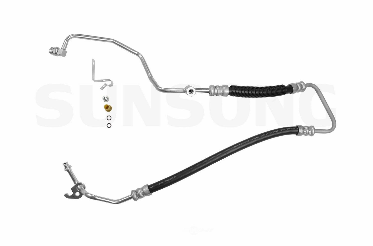 Power Steering Pressure Line Hose Assembly Fits 02 06 Ford