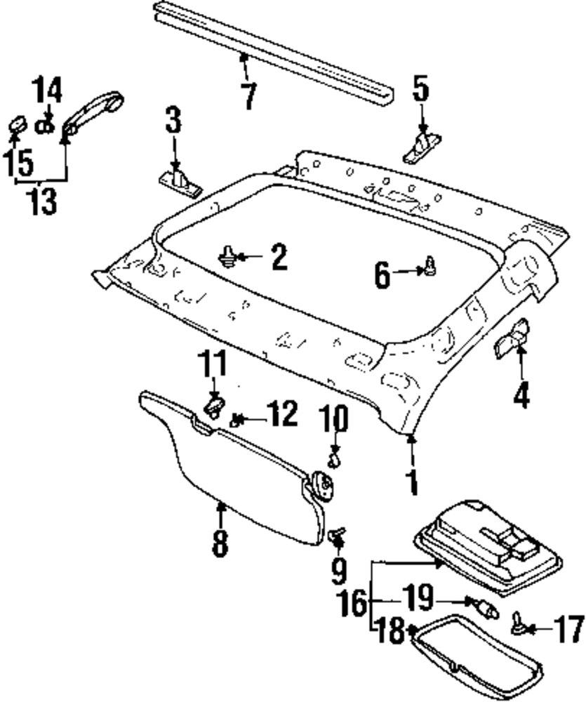 Headliner Dodge Ram Interior Parts Diagram. Dodge. Auto