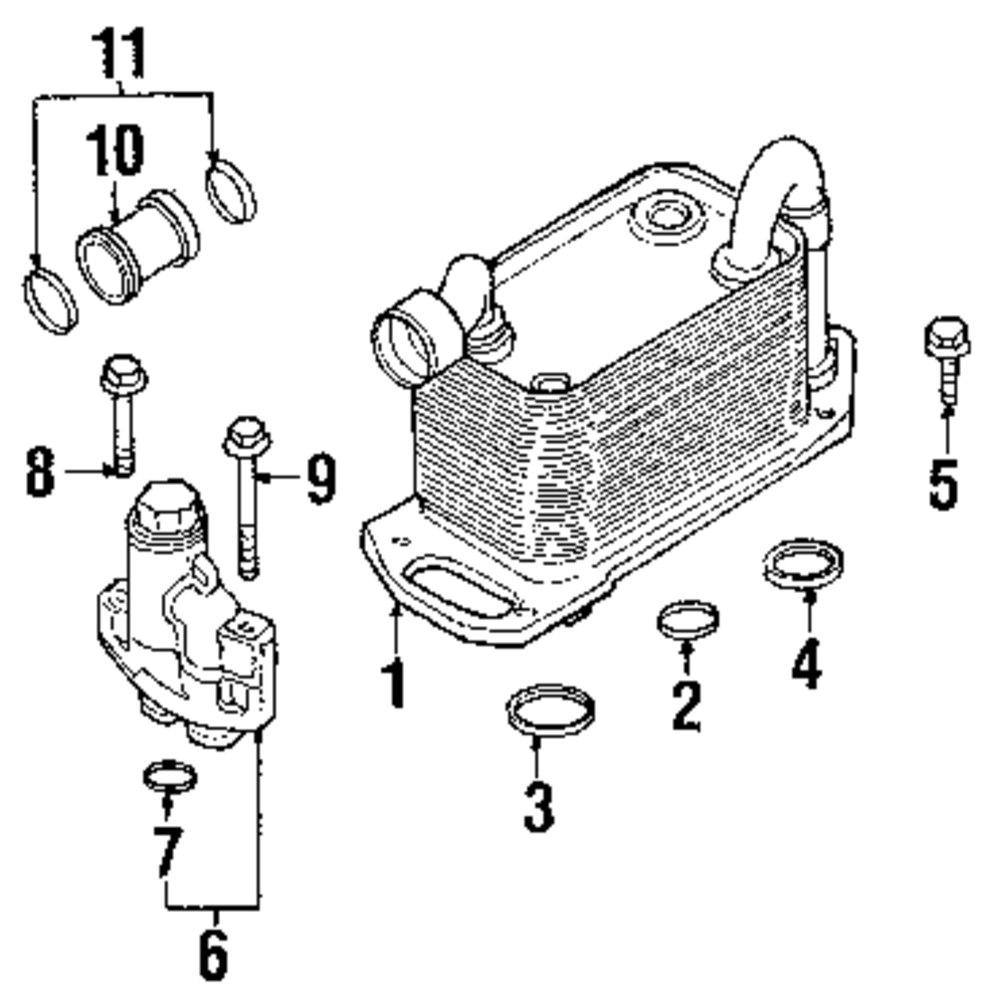 Genuine bmw heat exchanger bolt bmw 07119905399