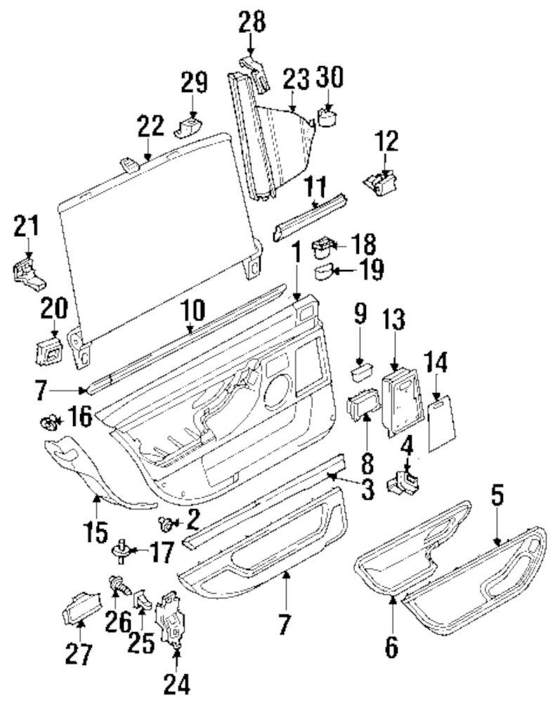 Genuine bmw lock knob guide bmw 51228188683