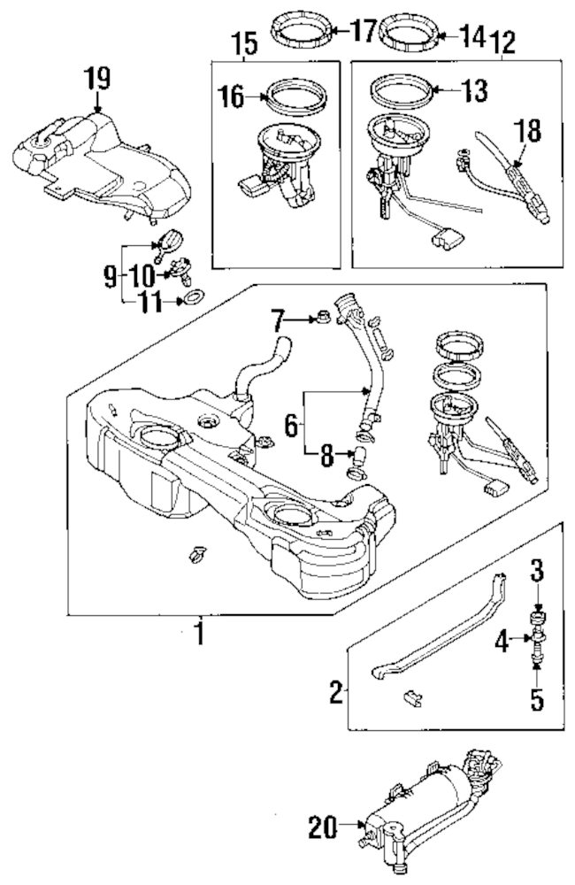 2001 ISUZU RODEO SPORT Fuel System Parts
