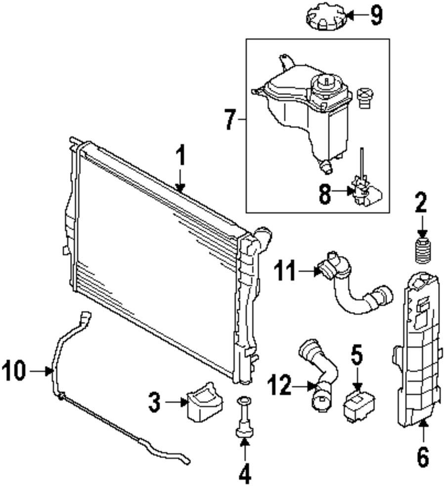 medium resolution of genuine bmw upper hose bmw 17127540127