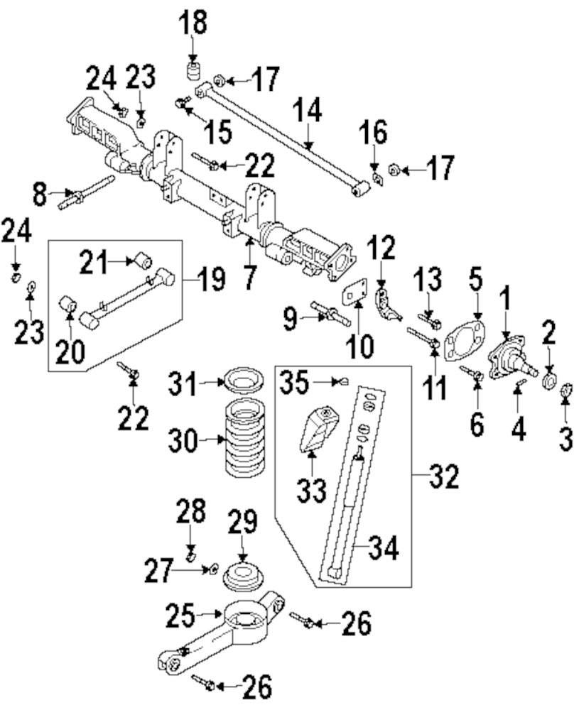 2002 Kia Sedona Rear End Diagram. Kia. Auto Parts Catalog