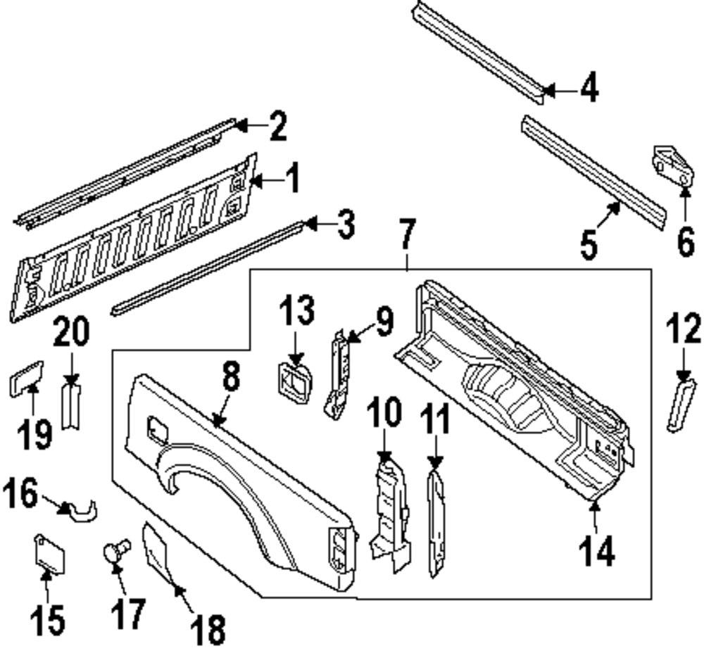 Nissan Frontier Parts Diagram Door Weatherstripping