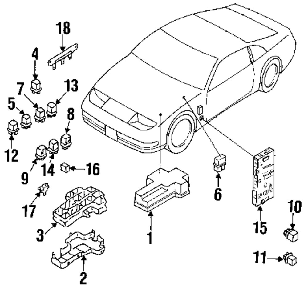 1993 NISSAN 300ZX Electrical Components Parts
