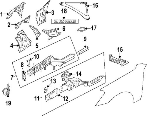 small resolution of genuine nissan cross bar gusset nis 641901ea0a