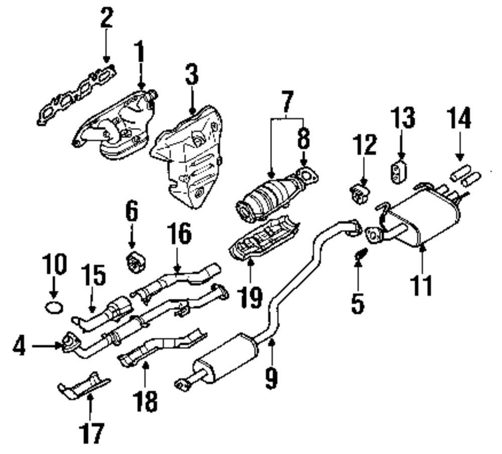 2001 Nissan Sentra Exhaust Sytem Diagram. Nissan. Auto