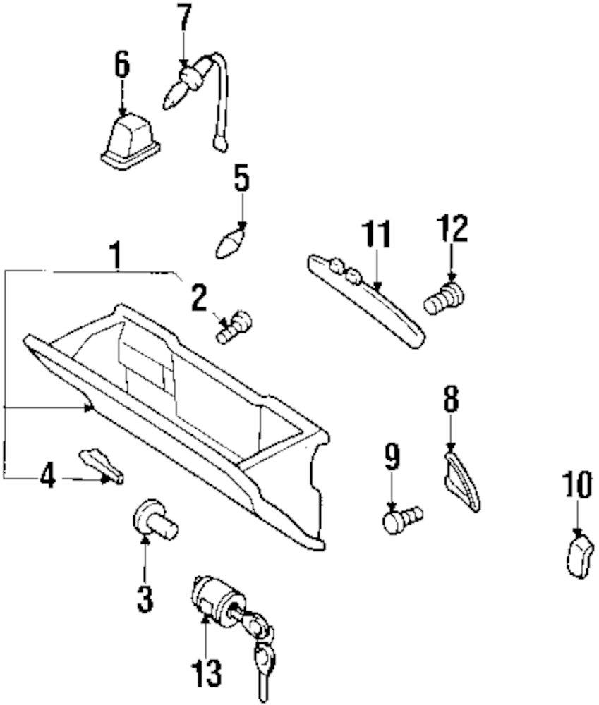 Genuine infiniti cluster assy screw inf 0145100581
