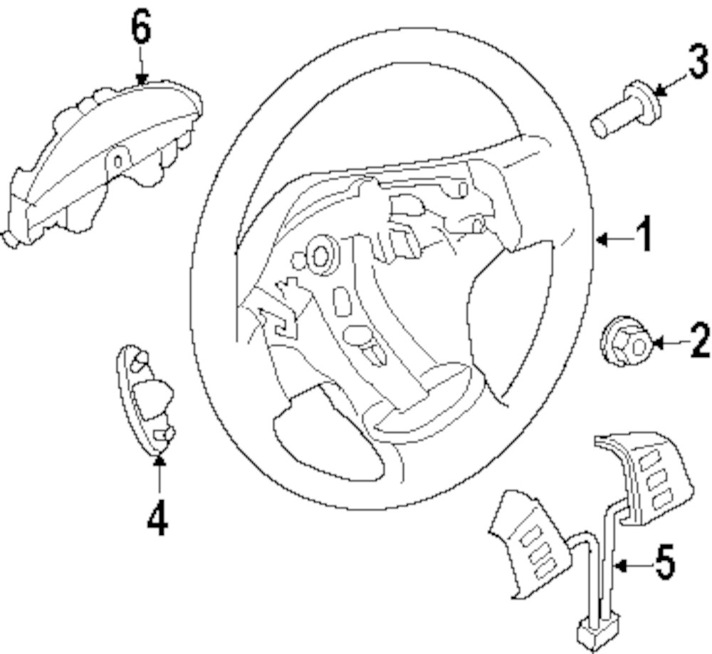 Genuine infiniti steering wheel inf 48430zc70e