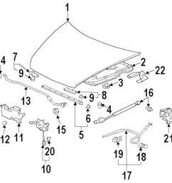 mitsubishi endeavor questions 2004 mitsubishi endeavor engine diagram 2004 mitsubishi endeavor hood and components parts [ 991 x 1000 Pixel ]