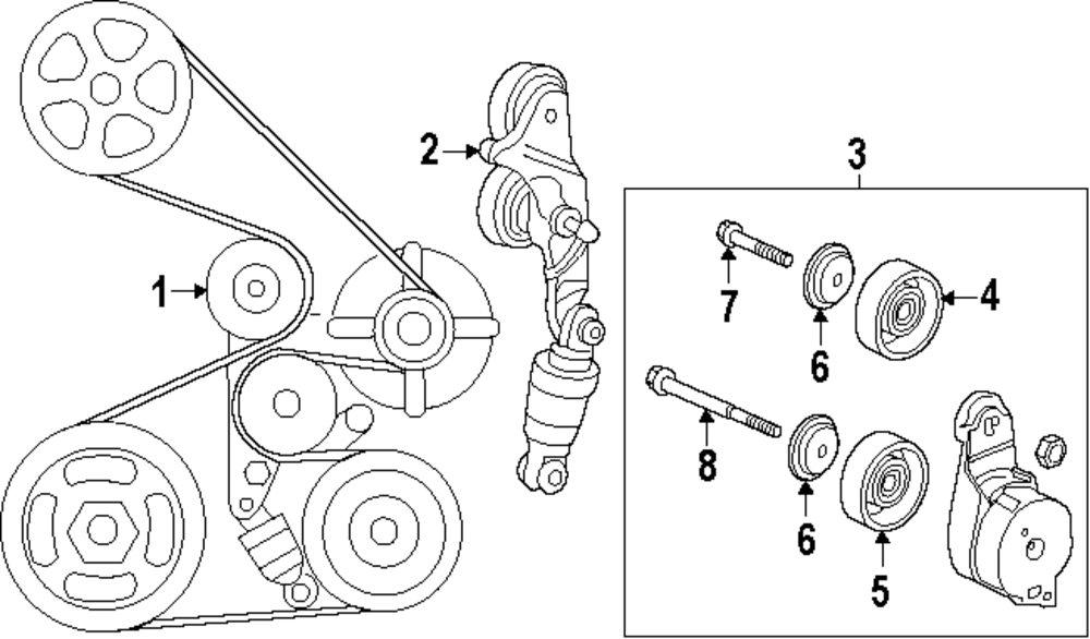 [DIAGRAM] 2012 Honda Pilot Serpentine Belt Diagram FULL