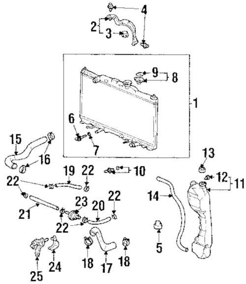 small resolution of 2002 honda crv radiator diagram trusted wiring diagram 93 honda civic engine diagram 2004 honda cr
