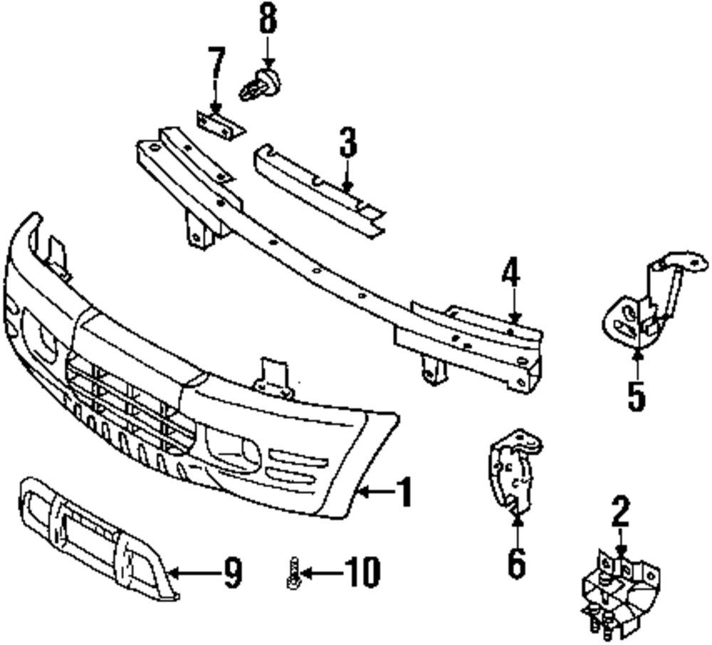 Genuine isuzu bumper cover center bracket isu 8971257810