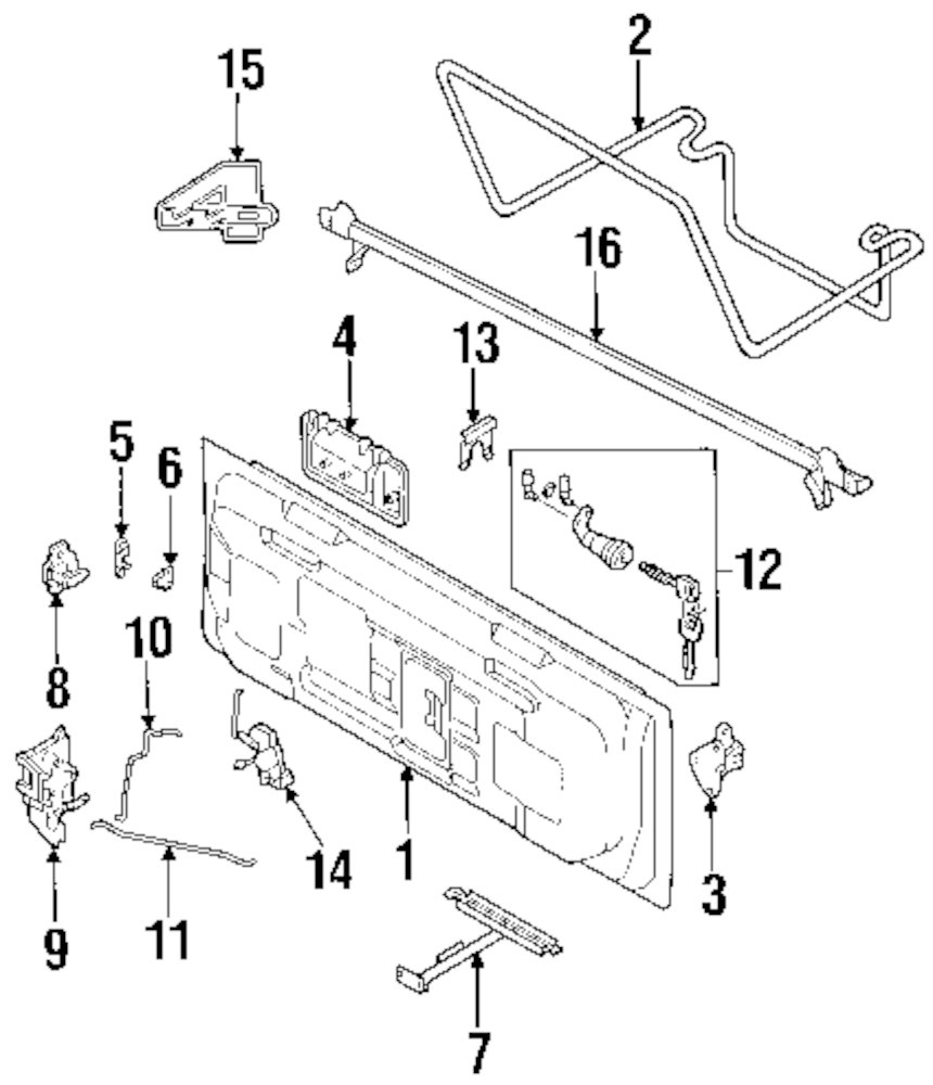 Service manual [2001 Isuzu Rodeo Sport Tail Gate Washer