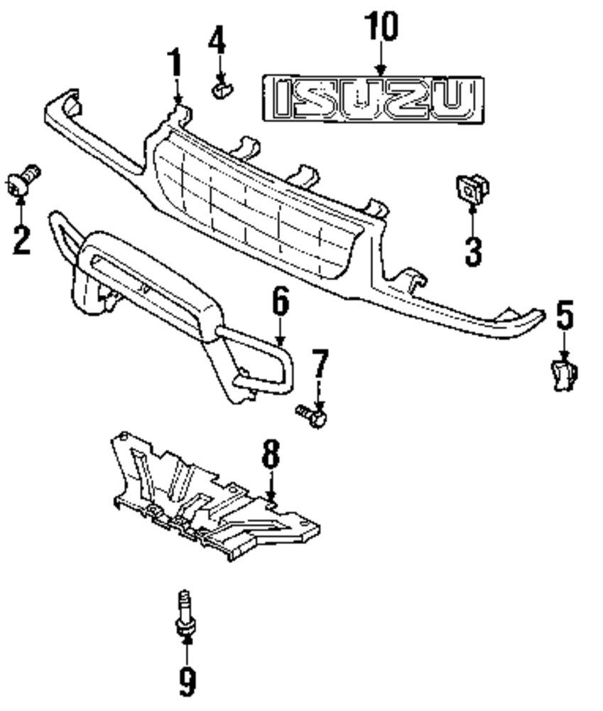 Genuine isuzu grille assy retainer clip isu 8970898870