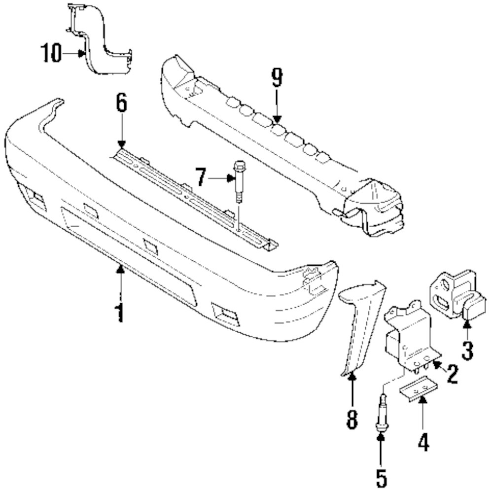Genuine acura reinf beam bracket acu 8978113670